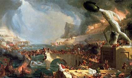 The Course of Empire Destruction - Thomas Cole