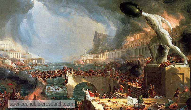 The Course of Empire Destruction (Art work by Thomas Cole)