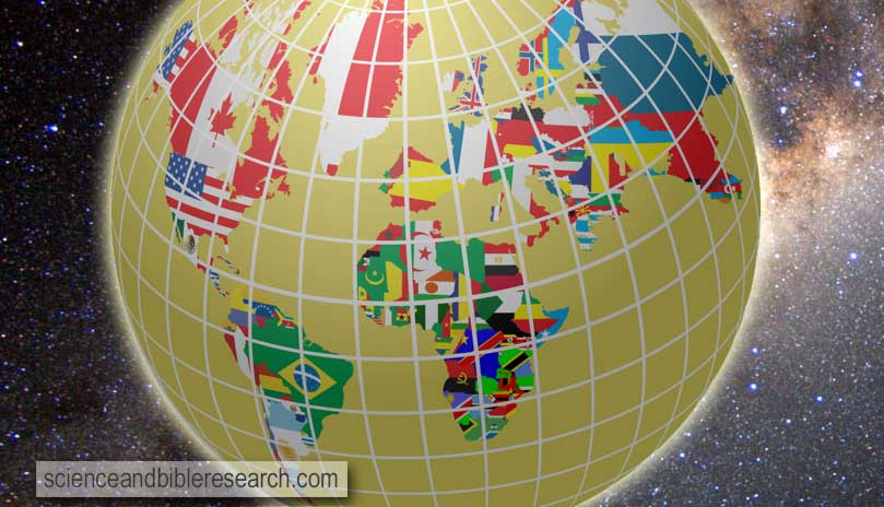 All flags in globe form, vector illustration (Vector by bakelyt)