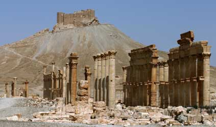 Palmyra, ancient Aramaic city in central Syria