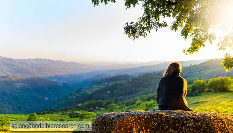 Scenic view of woman watching sunset at Peneda-Geres National Park, northern Portugal (Photo by Sergey Peterman)
